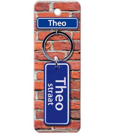 Straatnaam sleutelhanger - Theo
