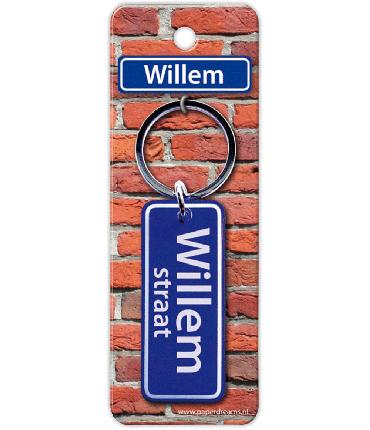 Straatnaam sleutelhanger - Willem