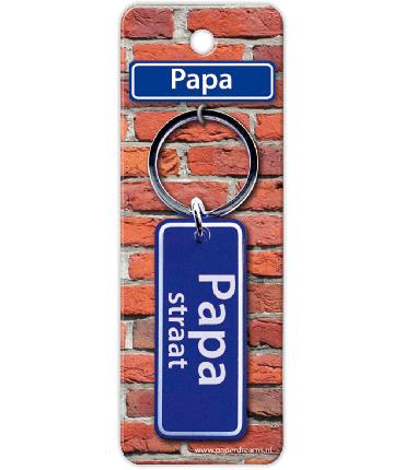 Straatnaam sleutelhanger - Papa