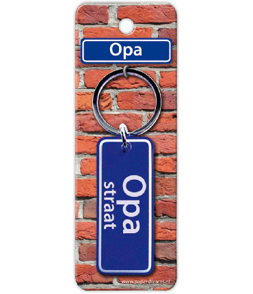 Straatnaam sleutelhanger - Opa