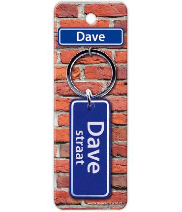 Straatnaam sleutelhanger - Dave