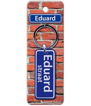 Straatnaam sleutelhanger - Eduard