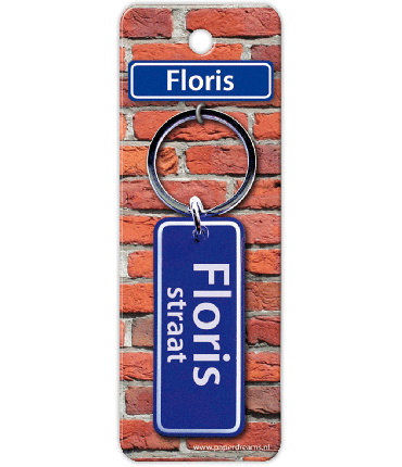 Straatnaam sleutelhanger - Floris