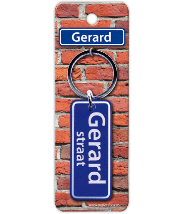 Straatnaam sleutelhanger - Gerard