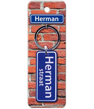 Straatnaam sleutelhanger - Herman