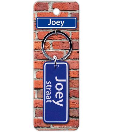 Straatnaam sleutelhanger - Joey