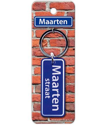 Straatnaam sleutelhanger - Maarten