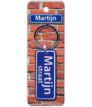 Straatnaam sleutelhanger - Martijn