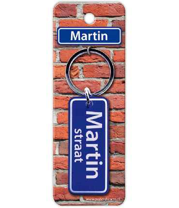 Straatnaam sleutelhanger - Martin