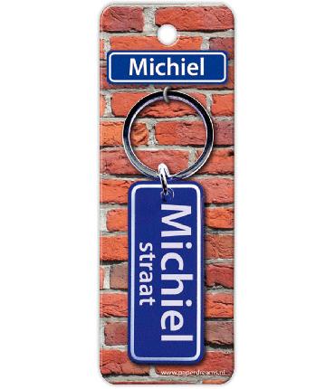 Straatnaam sleutelhanger - Michiel