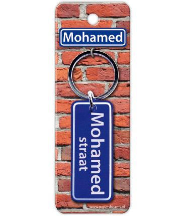 Straatnaam sleutelhanger - Mohamed