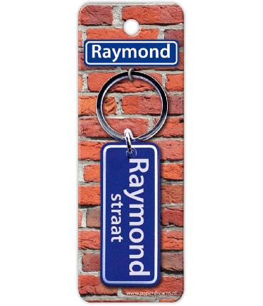 Straatnaam sleutelhanger - Raymond