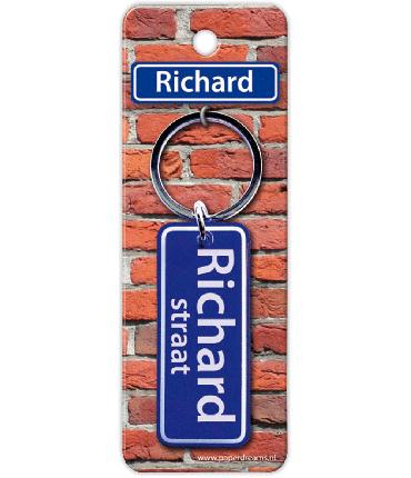 Straatnaam sleutelhanger - Richard