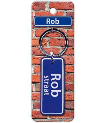 Straatnaam sleutelhanger - Rob