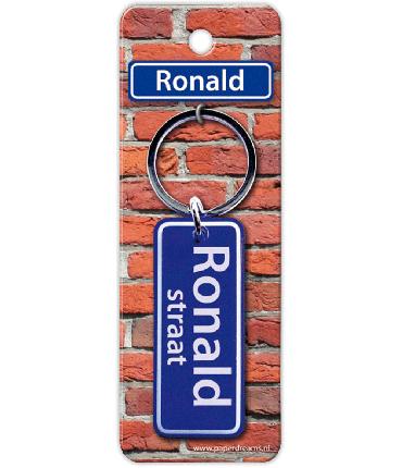 Straatnaam sleutelhanger - Ronald