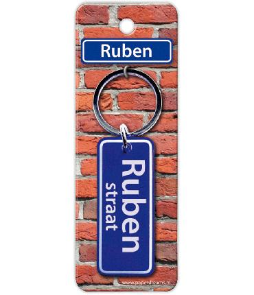 Straatnaam sleutelhanger - Ruben