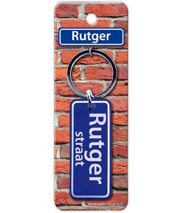 Straatnaam sleutelhanger - Rutger