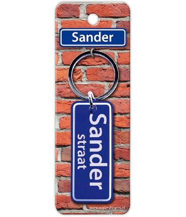 Straatnaam sleutelhanger - Sander