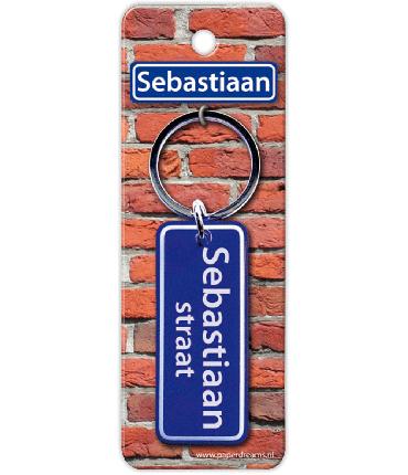 Straatnaam sleutelhanger - Sebastiaan
