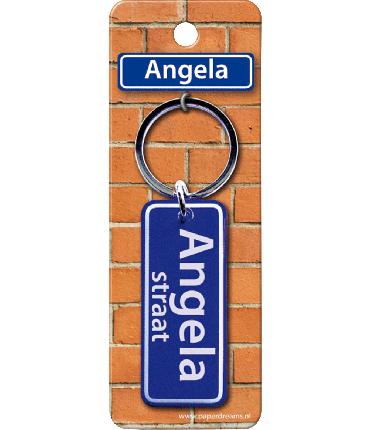 Straatnaam sleutelhanger - Angela