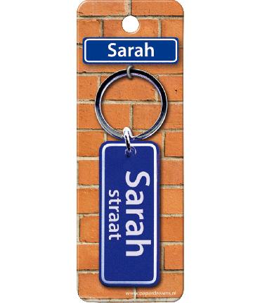 Straatnaam sleutelhanger - Sarah