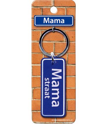 Straatnaam sleutelhanger - Mama