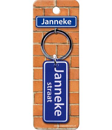 Straatnaam sleutelhanger - Janneke