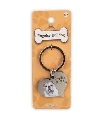 Dieren sleutelhangers - Engelse Bulldog