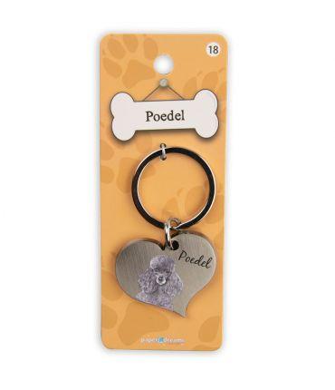 Dieren sleutelhangers - Poedel