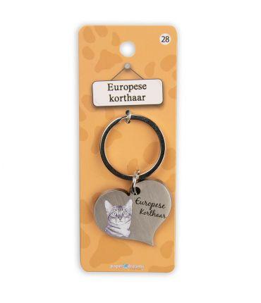 Dieren sleutelhangers - Europese korthaar