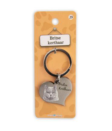 Dieren sleutelhangers - Britse korthaar