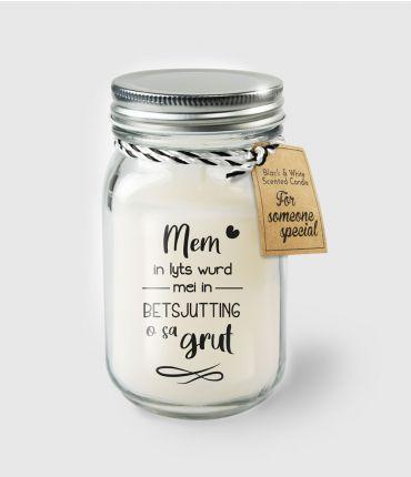 Black & White scented candles - Mem