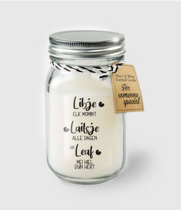 Black & White scented candles - Libje elk momint