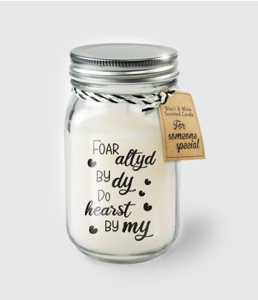 Black & White scented candles - For altyd by dy