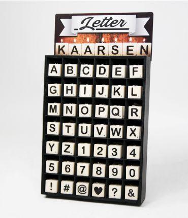 Letter kaarsjes display