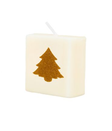 Letter Kaarsje - Kerstboom goud