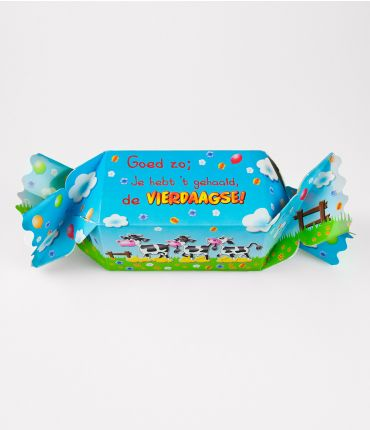 Kado/Snoepverpakking Koe - 4-daagse