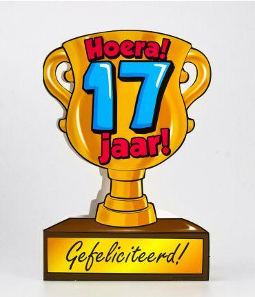 Trofee kaart - 17 jaar
