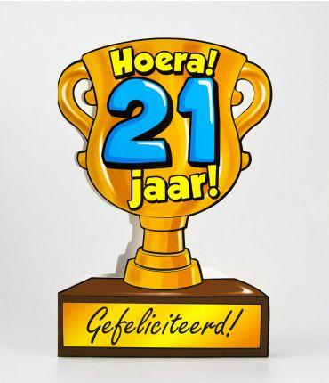 Trofee kaart - 21 jaar