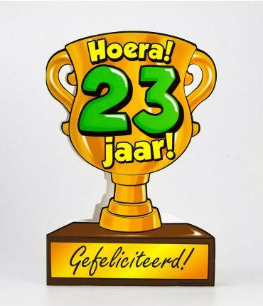 Trofee kaart - 23 jaar
