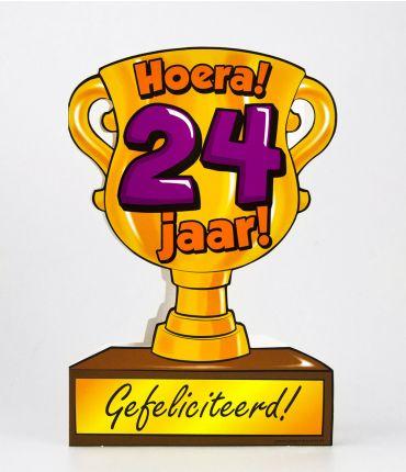 Trofee kaart - 24 jaar