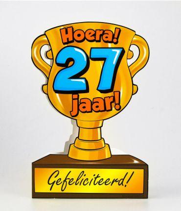 Trofee kaart - 27 jaar
