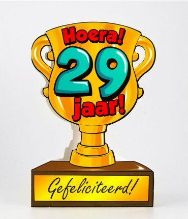 Trofee kaart - 29 jaar