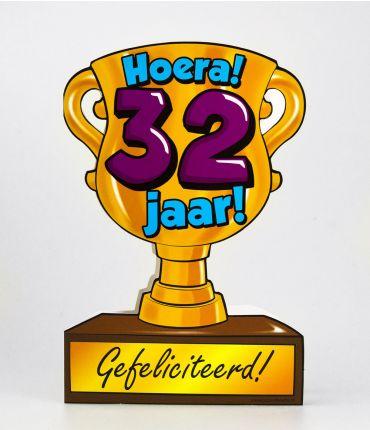 Trofee kaart - 32 jaar