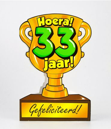 Trofee kaart - 33 jaar