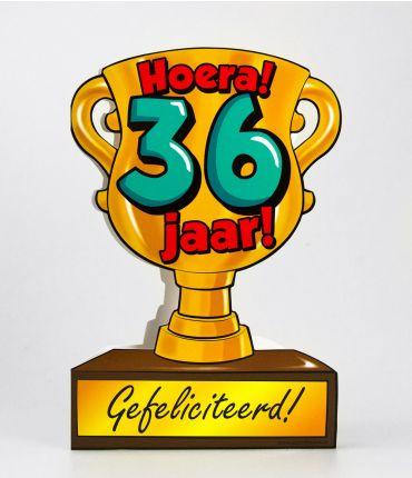 Trofee kaart - 36 jaar
