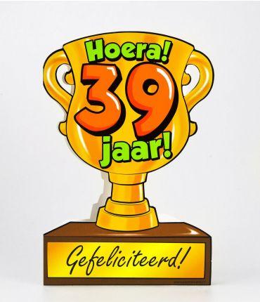 Trofee kaart - 39 jaar