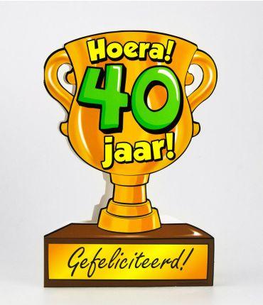 Trofee kaart - 40 jaar