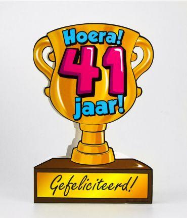 Trofee kaart - 41 jaar