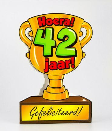 Trofee kaart - 42 jaar